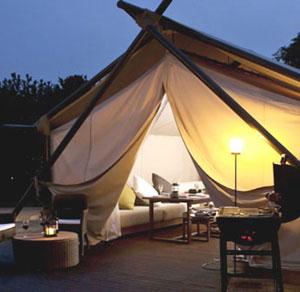 グランピングって贅沢なキャンプがあるそうです