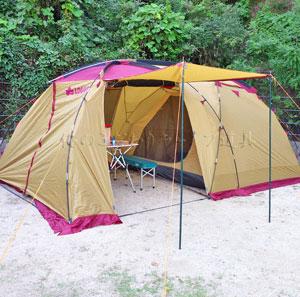 テントはロゴスの2ルームタイプが便利で気に入ってます